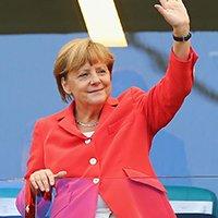 德国总理默克尔现场助威