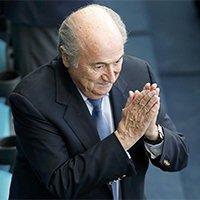 国际足联主席布拉特现身德葡大战