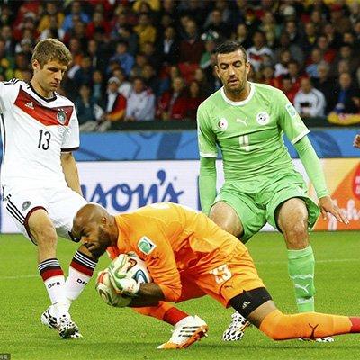 德国2-1苦战阿尔及利亚晋级 许尔勒建功