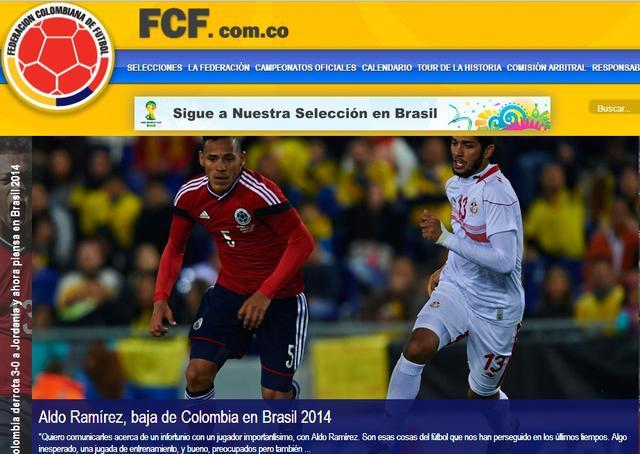 哥伦比亚中场伤别世界杯 主帅遗憾溢于言表