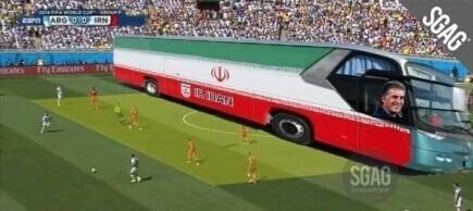 吐槽帝:被梅西C罗同时进球 唯伊朗是也!