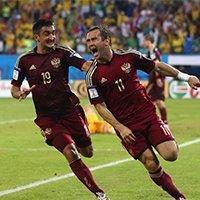 俄罗斯科尔扎科夫补射得手后疯狂奔跑庆祝