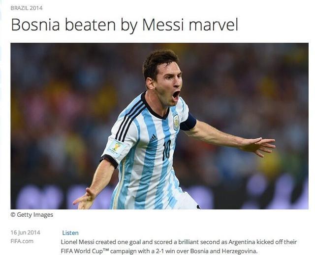 全球媒体聚焦阿根廷:梅西时隔八年终进球 !