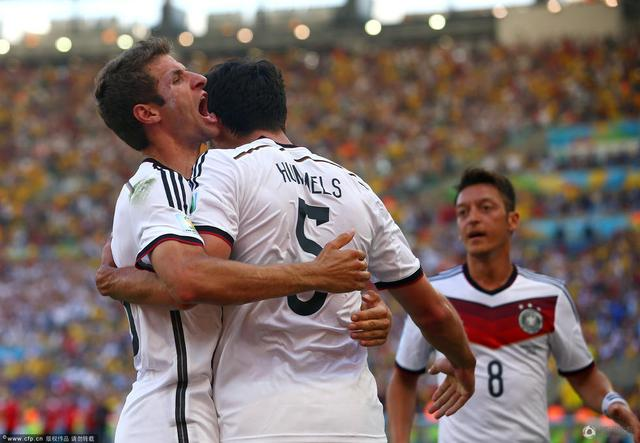 世界杯-德国1-0法国连续4届进4强 铁卫制胜球