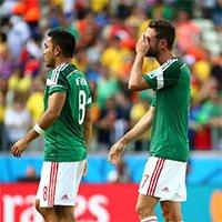 墨西哥球员掩面难接受被逆转