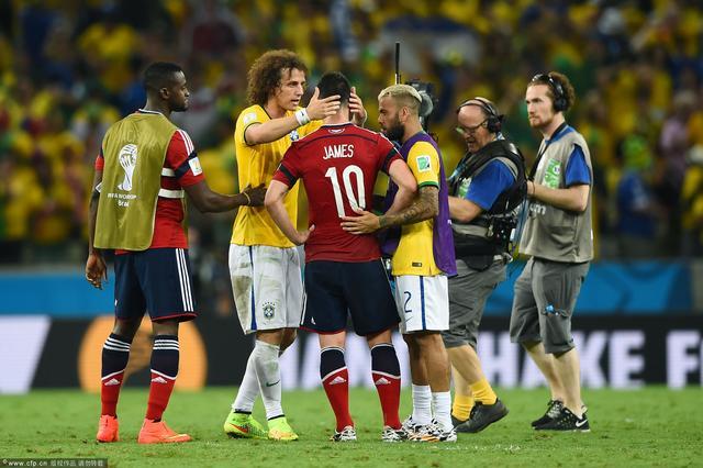 巴西2-1哥伦比亚 全场进球精彩瞬间(组图)