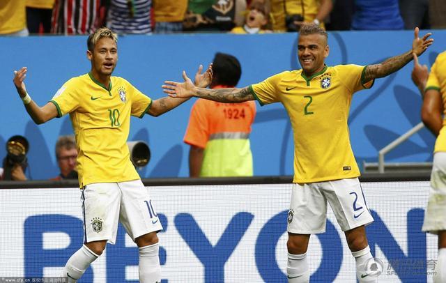 半场-巴西2-1领先喀麦隆 内马尔梅开二度