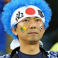日本球迷目光坚定