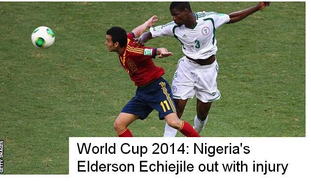 悲剧!尼日利亚后卫热身赛受伤 无缘世界杯