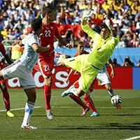阿根廷角球落点极佳险造进球