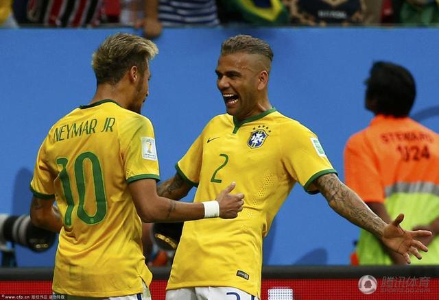 世界杯-内马尔2球巴西4-1喀麦隆 下轮战智利_