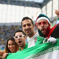 现场兴奋的伊朗球迷