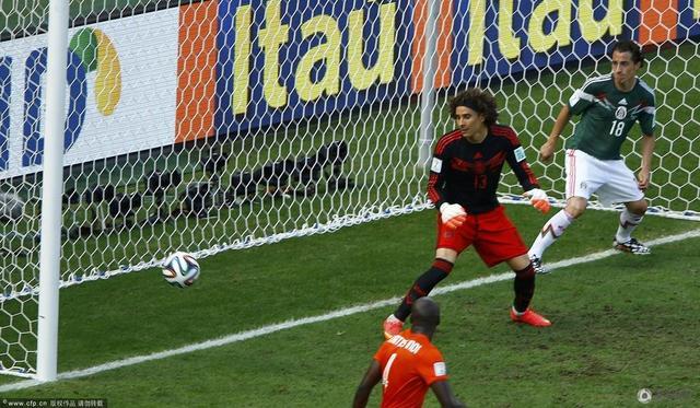 荷兰2-1反超墨西哥 再现进球经典瞬间(组图)