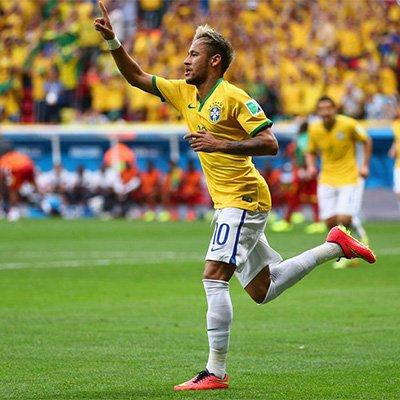 喀麦隆1-4巴西 内马尔梅开二度