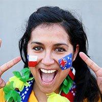 高清:澳大利亚美女球迷球场欢呼