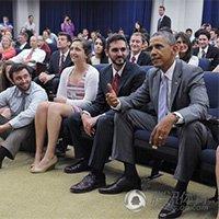 美国总统奥巴马白宫观战