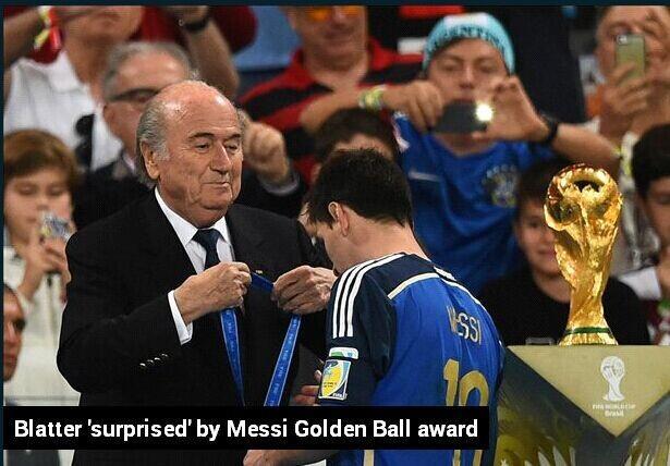 布拉特惊讶梅西夺金球奖:只有小组赛表现好