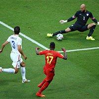 比利时奥里吉打门被霍华德扑出