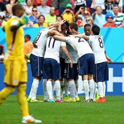 法国2-0尼日利亚晋级八强 博格巴建功