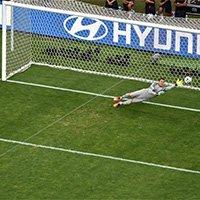 智利最后一球 哈拉主罚打中立柱