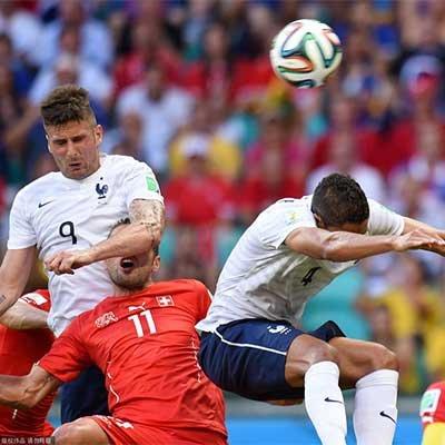 法国5-2大胜瑞士 创本届世界杯最多进球