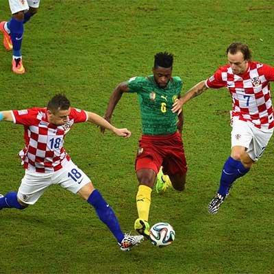 克罗地亚4-0喀麦隆曼 朱基齐梅开二度