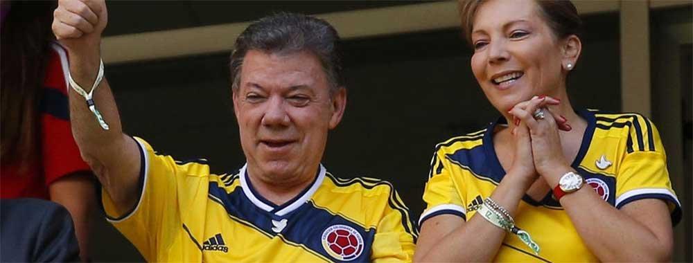 """哥伦比亚总统夫妇现场""""督战"""""""