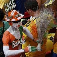 引人注目的科特迪瓦球迷