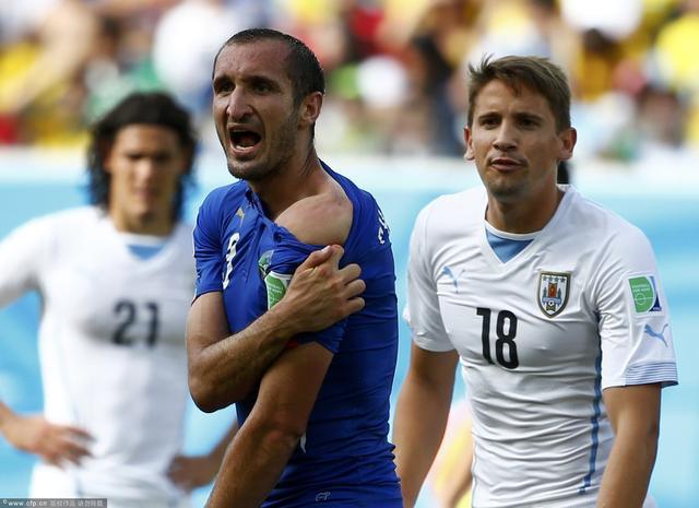 基耶利尼:裁判决定比赛!FIFA袒护苏亚雷斯