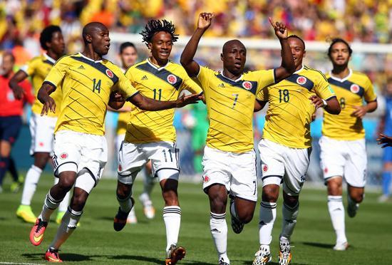 惊艳!16年重返世界杯 哥伦比亚3球完胜希腊
