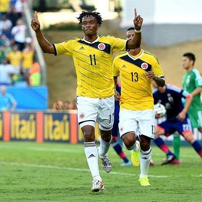 日本1-4哥伦比亚 马丁内斯梅开二度
