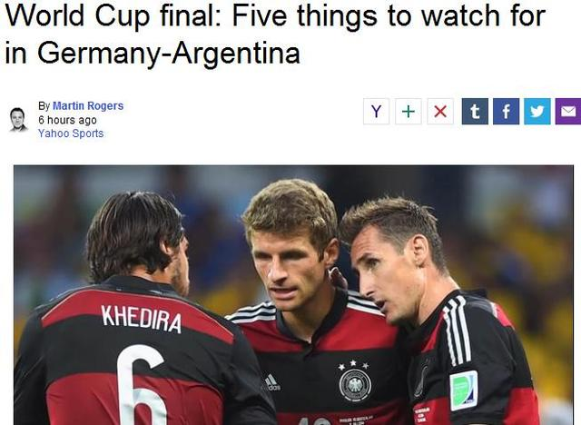 世界杯决赛看点:梅西战狐媚 东道主助威德国
