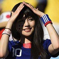 日本美女球迷现场助威