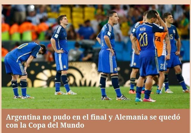 《纪事报》:体能致阿根廷失利 主裁漏判点球