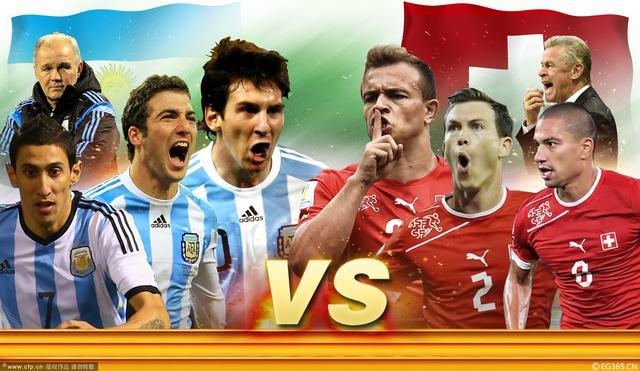 阿根廷VS瑞士前瞻:梅西PK沙奇里 阿圭罗伤缺
