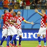 克罗地亚队庆祝进球