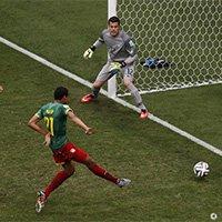 喀麦隆马蒂普门前推射破门扳平比分