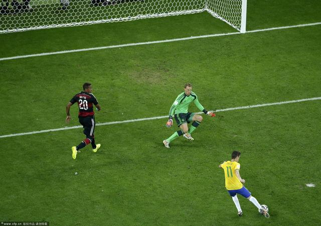巴西1-7德国 K神破纪录全场进球全回放(组图)_