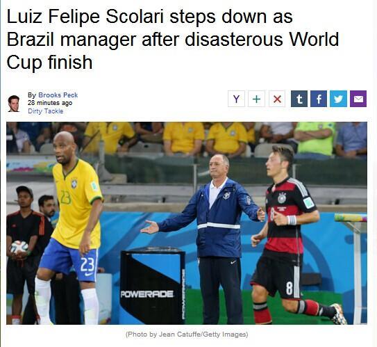 斯科拉里拒辞职 雅虎:世界杯结束就将下课