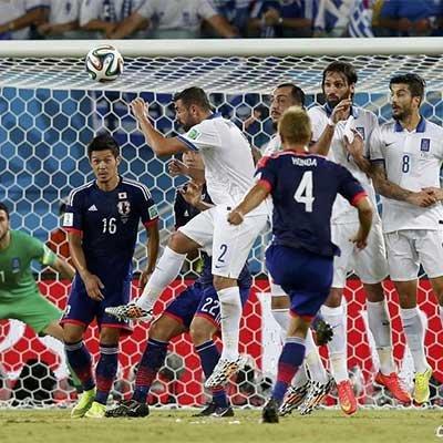 日本0-0希腊 双方出线形势严峻