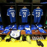 希腊球员更衣室局部一览