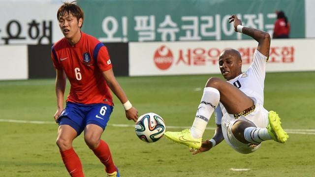 热身赛-恒大铁卫首发上阵 韩国0-4完败于加纳
