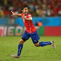 高清:智利队巴尔迪维亚大力抽射进球