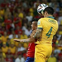 高清:澳大利亚钟卡希尔接右路传中头球破门