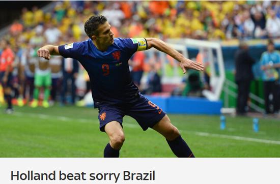 天空体育:巴西连败结束世界杯 74年最大耻辱