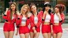 韩少女组合助威世界杯