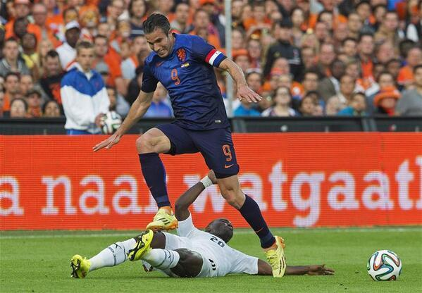 热身赛-荷兰1-0小胜加纳 范佩西闪击85战43球