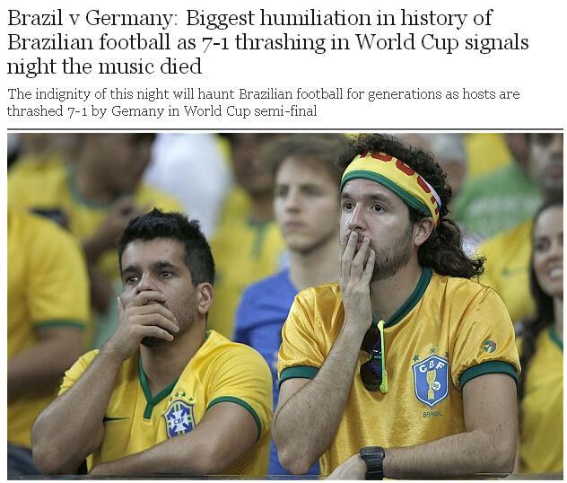 英媒:失利影响巴西几代人 内马尔成唯一图腾
