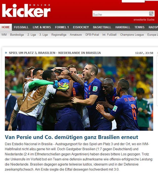 《踢球者》:完败荷兰 巴西悲惨命运的终结