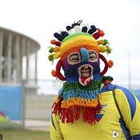 厄瓜多尔球迷奇特着装博眼球